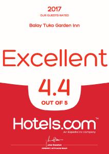 hotels.com certificate 2016